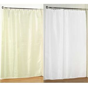 "78"" Long Size Fabric Shower Curtain: 70""W x 78""L, Weighted Hem, Water Resistant"