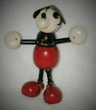 6.5� Rare! Walt Disney Mickey Mouse Doll Lollypop Doll - Borgefeldt Wood C.1930