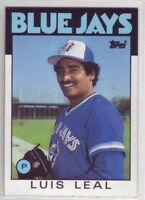 1986 Topps Baseball Toronto Blue Jays Team Set