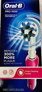ORAL-B PRO 1000 RECHARGEABLE TOOTHBRUSH REMOVES 300% MORE PLAQUE- L10