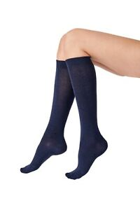 Pretty Polly Knee High Bamboo Socks   Size: One Size  Colours: Navy & Black