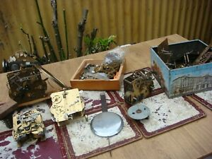 Vintage  Antique  Clock  Movement & Parts For Mantle  Clock For Spare Or Repair