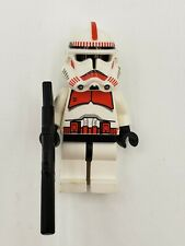 Lego Minifigure Star Wars SW0091 Clone Trooper Red Shock