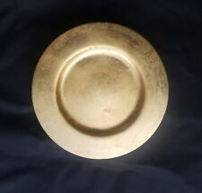 Charger Plates Italian Gold Leaf Finish Made in Italy, Heavy Stoneware Lot of 6