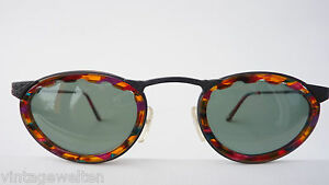 Polaroid Sunglasses Black, From Metal With Windsorring Colorful Horn-Look Size L