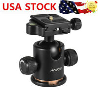 Andoer Tripod Monopod Ball Head + Quick Release Plate for DSLR Camera Camcorder