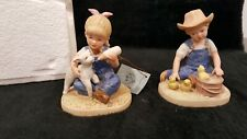 "Denim Days by Homco, 1985 Danny & Debbie- ""New Beginnings"" Figurine - #1500"