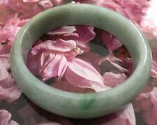 Green Natural Grade A Jade Jadeite Bangle Bracelet 59mm 玉镯 绿色