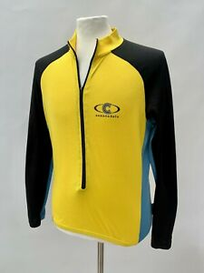 Men's Cannondale Long Sleeve Cycling Jersey Top Yellow Size Large Made in USA