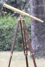 Vintage Brass Telescope With Tripod Antique Design Nautical Scope maritime Gift