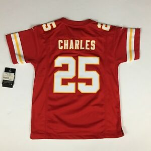 NWT $70 Kids JAMAAL CHARLES Authentic KC Chiefs NIKE Jersey YOUTH Med. 10-12