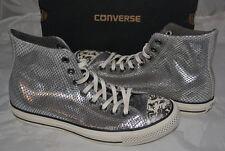 NIB Ladies Converse CT Portrait Hi Top Silver Sneakers - 9.5 US Ladies