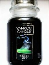 """Yankee Candle Halloween """"WITCHES BREW"""" Patchouli ~Large 22 oz.~WHITE LABEL~ RARE"""