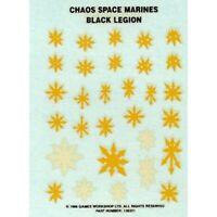 Chaos Space Marine Black Legion Transfer Sheet 1996 Games Workshop Warhammer 40k