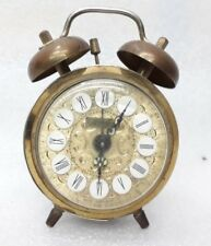 Vintage Old Rare Wind Up Table Alarm Clock Jerger Made In West Germany