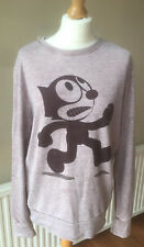 Animation Graphic Long Sleeve Lilac Crew Neck Jumper Uk Size 12