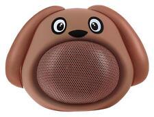 Süße Bluetooth-Speaker in tierischem Hunde-Design mit Freisprechfunktion, Braun