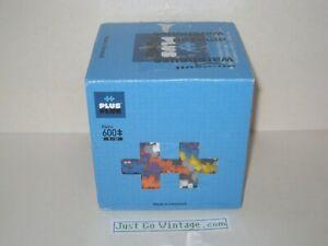 PLUS PLUS Open Play Set 600 Piece Basic Color Mix Construction Building - Opened