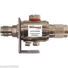 TerraWave N Male to N Female Bulkhead 0-6 GHz Lightning Arrestor