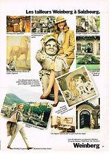 PUBLICITE ADVERTISING 064  1982  WEINBERG   tailleurs  à SALTZBOURG  mode