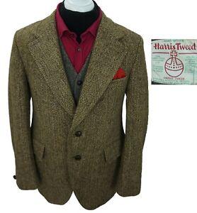 HARRIS TWEED JACKET MEN SIZE UK 40 US 40