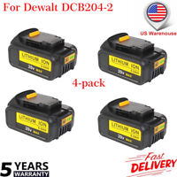 4 Pack For DeWalt 20V 20 Volt Max XR 6.0 Amp Lithium Ion Battery Pack DCB204-2