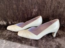 Van Dal White Silver Iridescent Court Shoes Size 5
