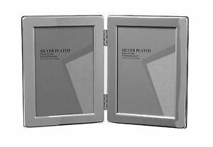 """Double Silver Photo Picture Frame 3.5x5"""", 4x6"""", 5x7"""" & 6x8"""" - Shiny Silver"""