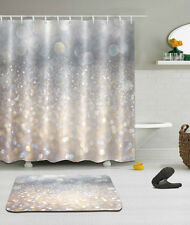 "Fantasy Flicker Glitter Shower Curtain Bathroom Mat Waterproof Fabric 72/79"" 602"