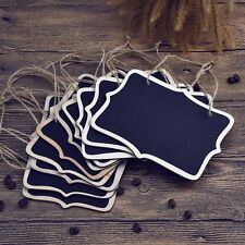 10Pcs Fancy Rectangular Hanging Chalkboard Blackboard Message Wedding Home Decor