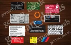 BMW E36 M3 RESTORATION DECALS STICKERS AUFKLEBER ADHESIVES SET