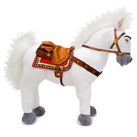 "Disney Store Maximus White Horse Plush Rapunzel Tangled Medium 14"" Retired Toy"