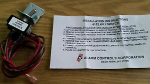 Alarm Controls Model #4152KS Alarm Power Kill Switch