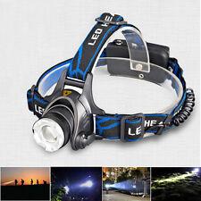CREE 1200 Lumen Headlamp XM-L T6 LED Flash Light Headlight+Charger+18650 Battery