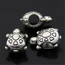 PJ411 12pc Tibetan Silver Charm tortoise Spacer Beads accessories wholesale