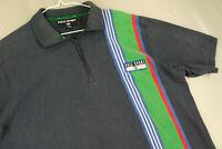 Vintage 90s Polo Sport Ralph Lauren Striped Short Sleeve Polo Shirt Blue Mens XL