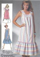 Vintage Women's Loose Flowing BOHO Tent Tunic Dress Sewing Pattern UNCUT Prairie
