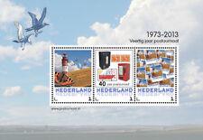 Nederland 2013  vuurtoren vlinder zegel op zegel blok  postfris/mnh