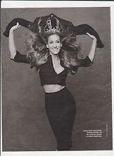 SARAH JESSICA PARKER   Pub de Magazine Magazine advertisement.2012. page papier
