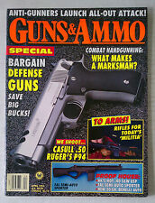 GUNS & AMMO HANDGUN FIREARMS RIFLES MAGAZINE 9MM 45 1994 APRIL LASERAM