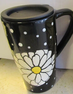 Ceramic Travel Mug with Spring Daisies