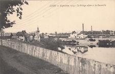 LYON expo internationale 1914 le village alpin et la passerelle
