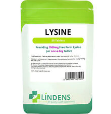 Lysine one-a-day 1000mg - fights cold sores (50 tablets) Lindens