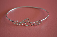 925 Sterling Silver LOVE Letters Message Bracelet - Valentines Mother's Day Gift