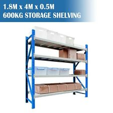 1.8M x 4.0M x 0.5M Heavy Duty Garage Storage Shelving Racks Warehouse Shelving