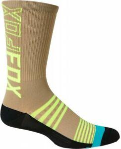 "Fox 8 Inch Ranger Socks Stone - Mountain Bike Trail MTB Cycling 8"""