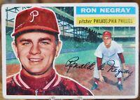 1956 Topps Baseball Card #7 Ron Negray, Philadelphia Phillies - VG