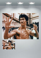 Bruce Lee Enter The Dragon Vintage Movie Large Wall Art Poster Print
