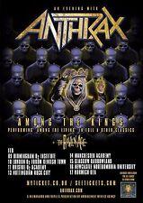 "Anthrax / The Raven Age""Among The Kings Tour"" 2017 U.K. Concert Poster - Metal"