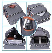 MODOKER Vintage Laptop Backpack  With USB Port Lightweight 15 Inch Notebook Grey